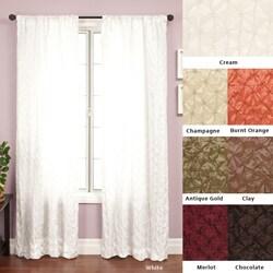 Softline Zanzibar Rod Pocket 96-Inch Diamond-Pattern Curtain Panel