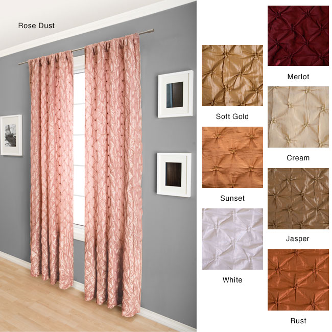 softline zanzibar rod pocket 96 inch curtain panel free