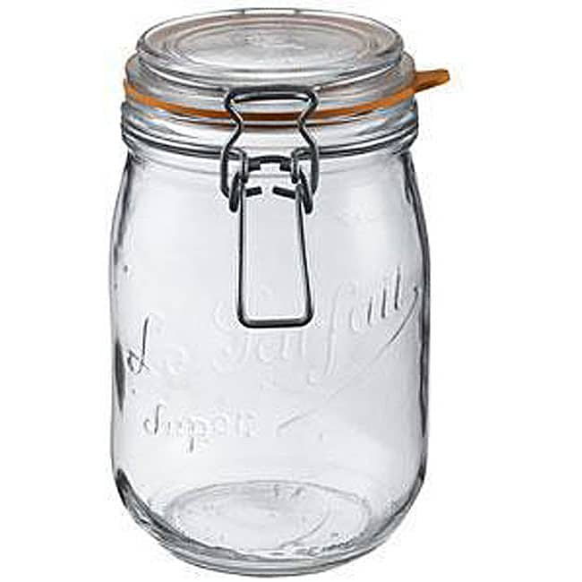 Le Parfait 2-liter Glass Canning Jars (Pack of 6)