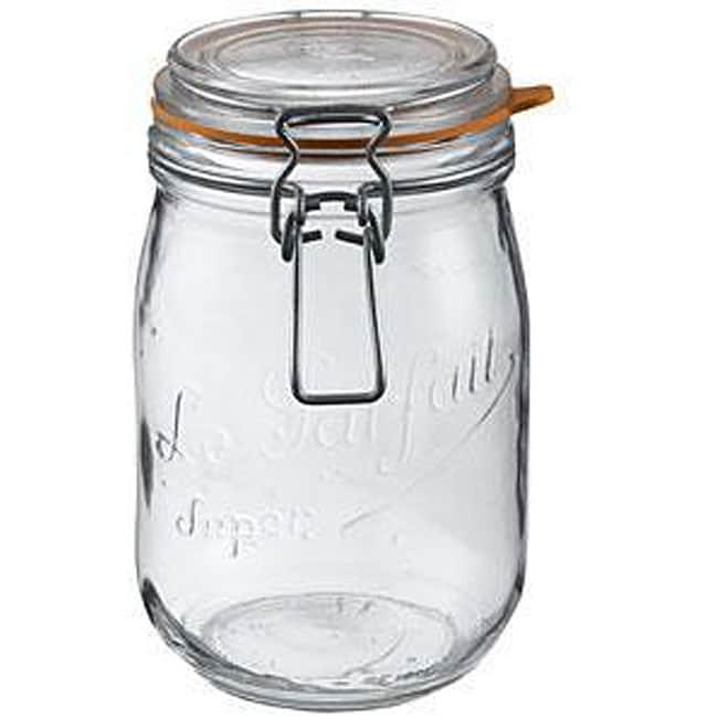 Le Parfait 1.5-liter Glass Canning Jars (Pack of 6)