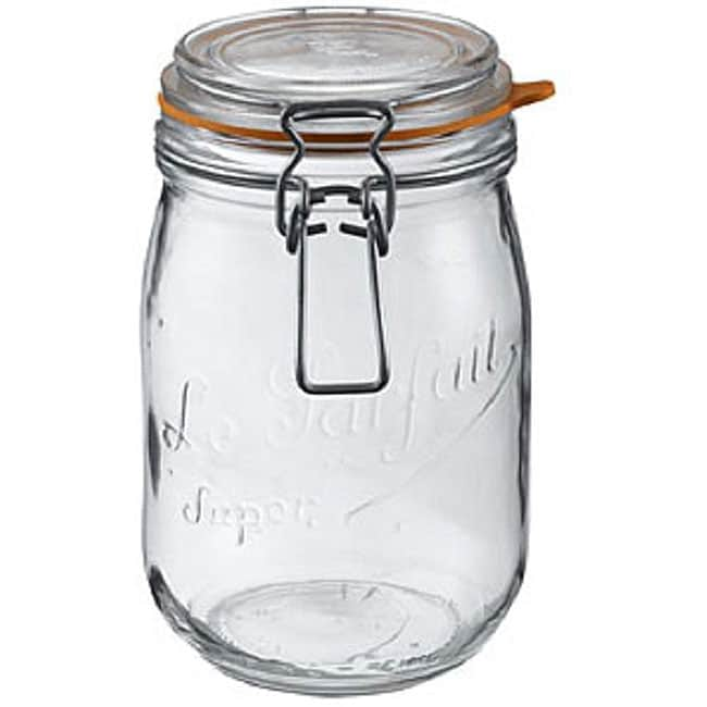 Le Parfait French 1/2-liter Glass Canning Jars (Pack of 3)