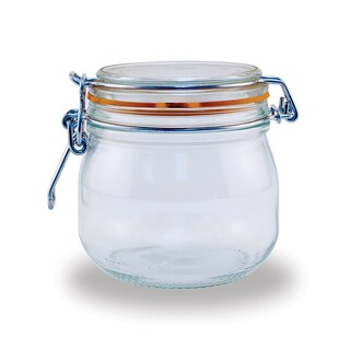 Le Parfait French Glass .5 Liter Canning Jar with 85mm Gasket and Lid (Pack of 6)
