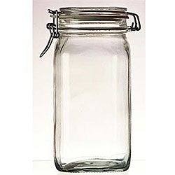 Bormioli Rocco 0.75-liter Fido Glass Canning Jars (Pack of 6)