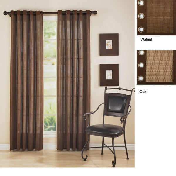 Rayon From Bamboo 84-inch Grommet Top Curtain Panel