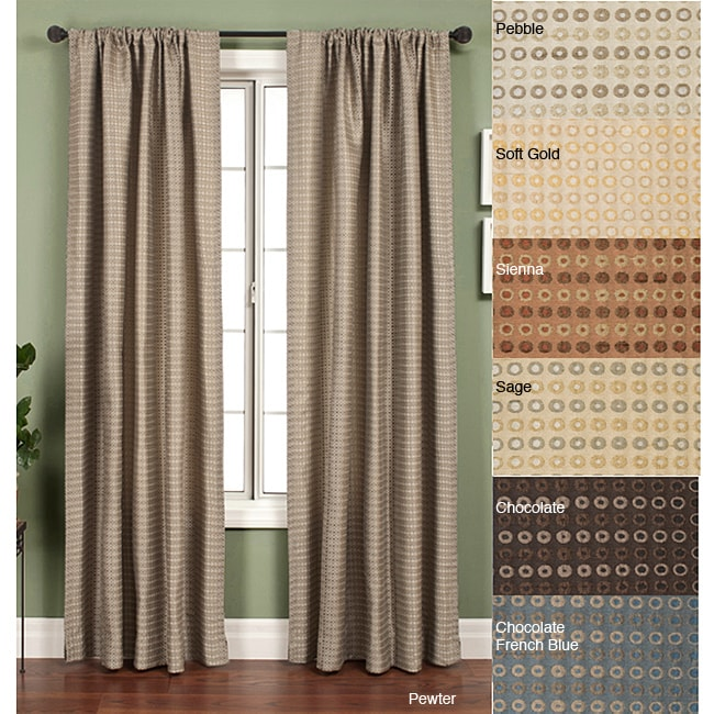Jaipur Circle Rod Pocket 120-inch Curtain Panel