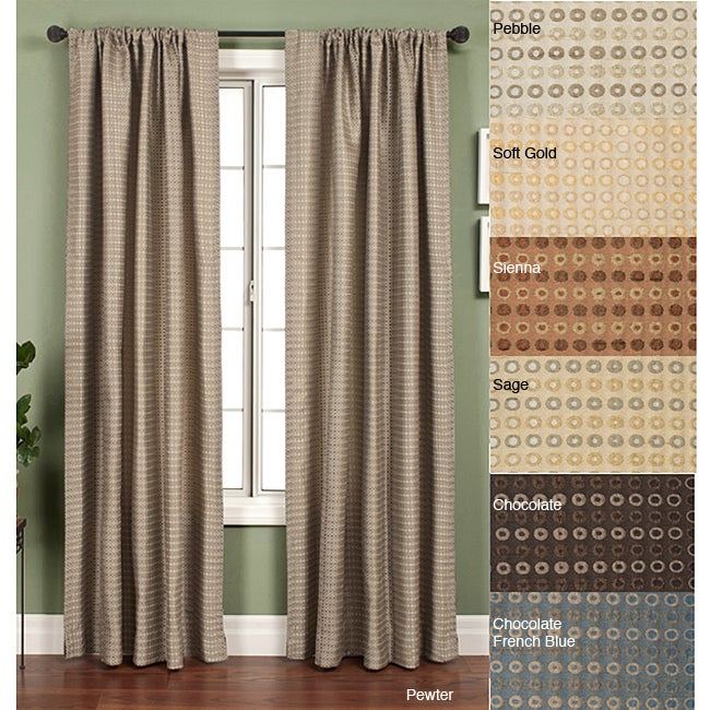 Jaipur Circle Rod Pocket 120-inch Curtain Panel - Thumbnail 0