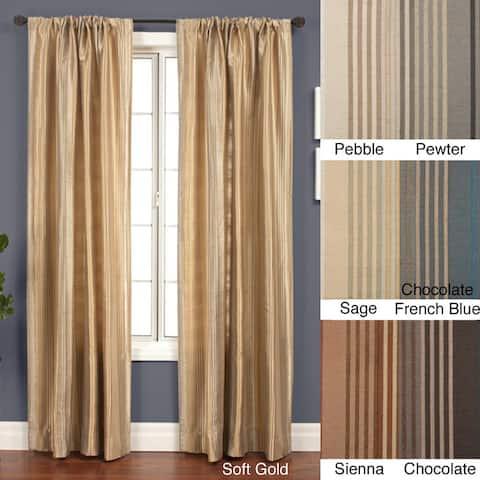Jaipur Stripe Rod Pocket 84-inch Curtain Panel - 53 x 84