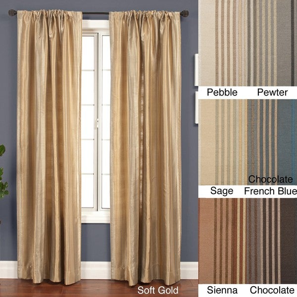 jaipur stripe rod pocket 96 inch curtain panel free