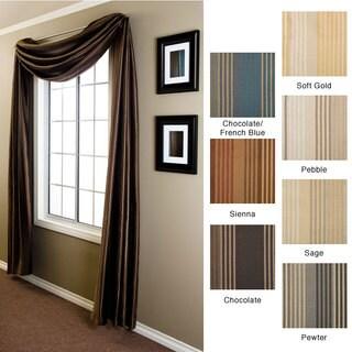 Jaipur Stripe 6-yard Window Scarf (Option: Gold)