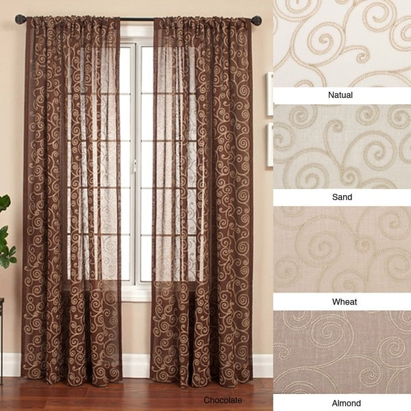Cypress Rod Pocket 96 Inch Curtain Panel 55 X 96 Free Shipping Today 12155846