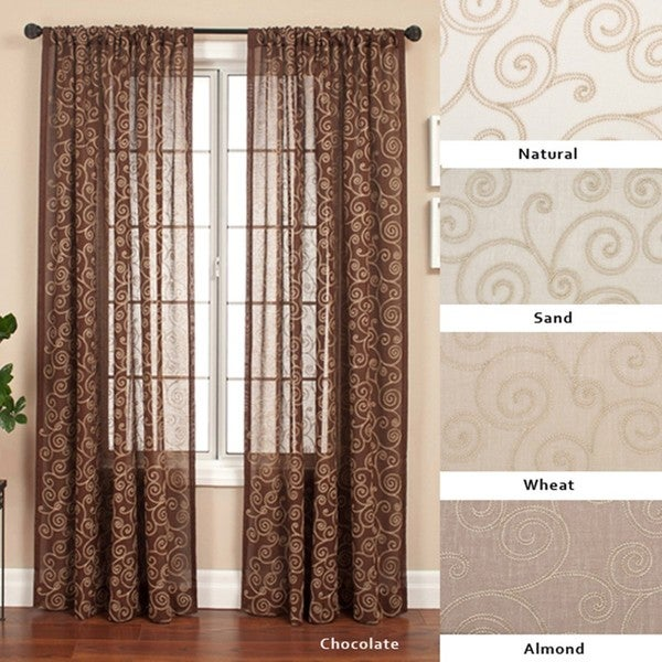 Cypress Rod Pocket 108 Inch Curtain Panel