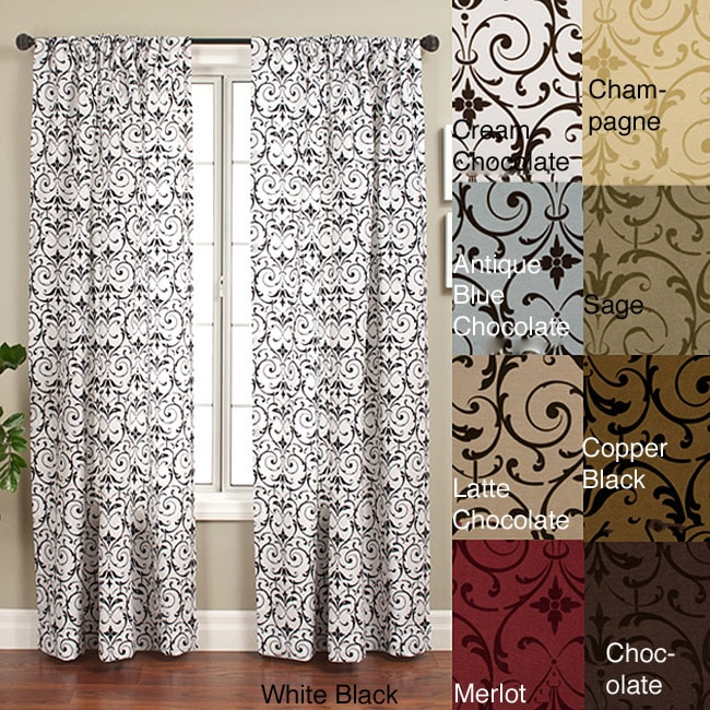 Seville Rod Pocket 108 Inch Curtain Panel 55 X