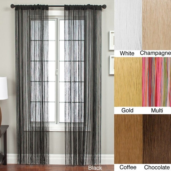 Lyon Rod Pocket 84-inch Curtain Panel - Free Shipping On Orders ...