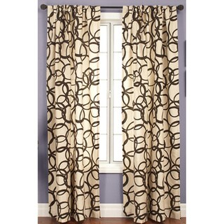 Softline Nirvano Rod Pocket 108-inch Curtain Panel (Option: Blue)