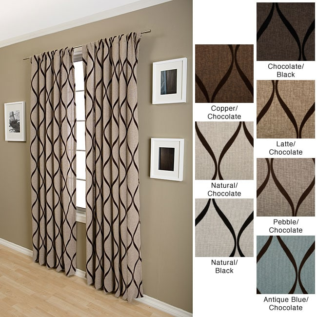 Softline Sahara Rod Pocket 96-inch Curtain Panel - Thumbnail 0