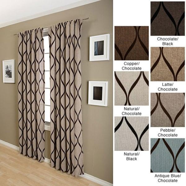 Nice Softline Sahara Rod Pocket 108 Inch Curtain Panel