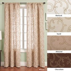 Softline Santiago Rod Pocket 84-inch Curtain Panel (2 options available)