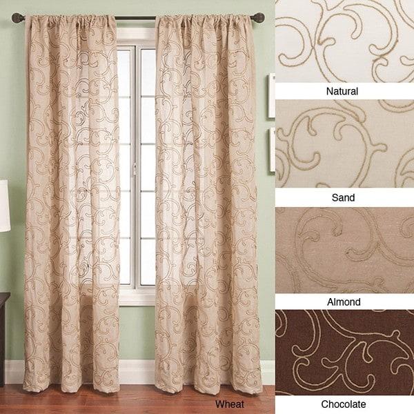Softline Santiago Rod Pocket 108 Inch Curtain Panel