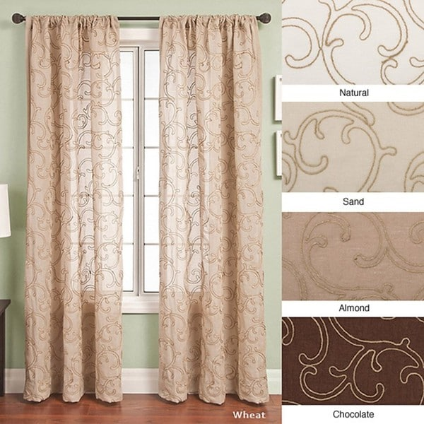 Softline Santiago Rod Pocket 120-inch Curtain Panel