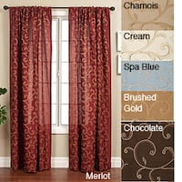 Softline Isis Scroll Rod Pocket 120-inch Curtain Panel - 55 x 120