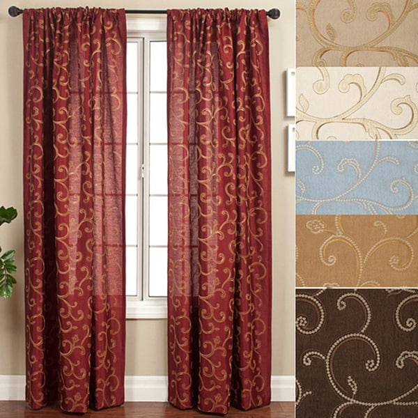 0de7b902e7291 Shop Softline Isis Scroll Rod Pocket 120-inch Curtain Panel - 55 x 120 - On  Sale - Free Shipping Today - Overstock - 4155127