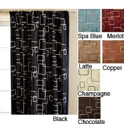 Softline Madison Square Rod Pocket 84-inch Curtain Panel