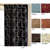 Softline Madison Square Rod Pocket 120-inch Curtain Panel