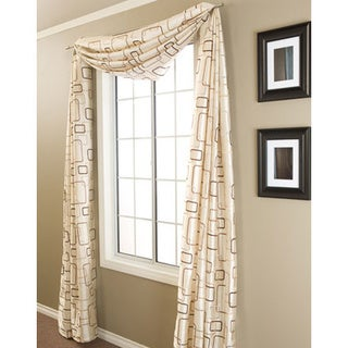 Softline Madison Square 6-yard Window Scarf - 55 x 216