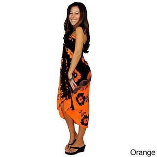 1 World Sarongs Women's Handmade Hibiscus Sarong (Indonesia)