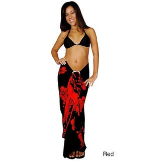 1 World Sarongs Women's Batik Hibiscus Sarong (Indonesia)
