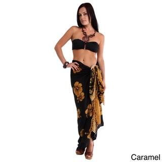 1 World Sarongs Women's Batik Hibiscus Sarong (Indonesia)