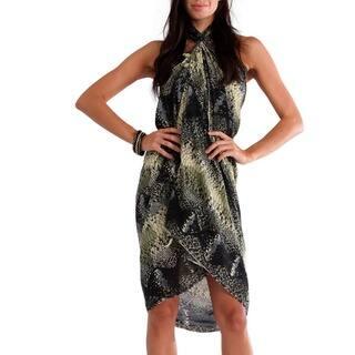 1 World Sarongs Women's Brown/ Black Reptile Skin Sarong (Indonesia)|https://ak1.ostkcdn.com/images/products/4155233/P12156056.jpg?impolicy=medium