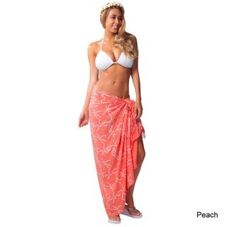 1 World Sarongs Women's Fringed Dragonfly Sarong (Indonesia)