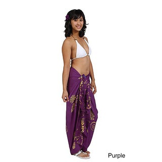 1 World Sarongs Women's Seashell Design Sarong (Indonesia)