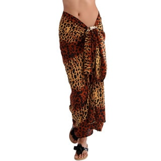 1 World Sarongs Women's Feline Machine-Washable Rayon Sarong (Indonesia)