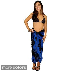1 World Sarongs Women's Hibiscus Rayon Sarong (Indonesia)