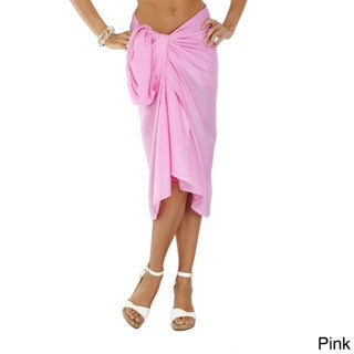 1 World Sarongs Women's Solid Sarong (Indonesia)