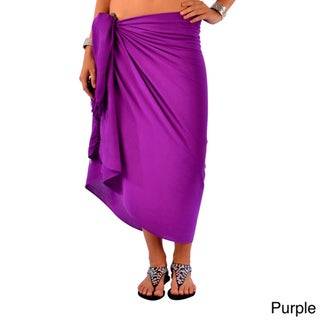 1 World Sarongs Women's Solid Sarong (Indonesia)