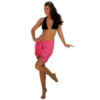 1 World Sarongs Women's Dragonfly Half/Mini Rayon Sarong (Indonesia)