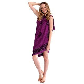 1 World Sarongs Women's Celtic Knotwork Royal Purple Sarong (Indonesia)
