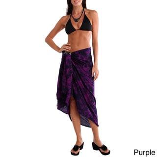 1 World Sarongs Women's Smoked Women's Plus Size Sarong (Indonesia)