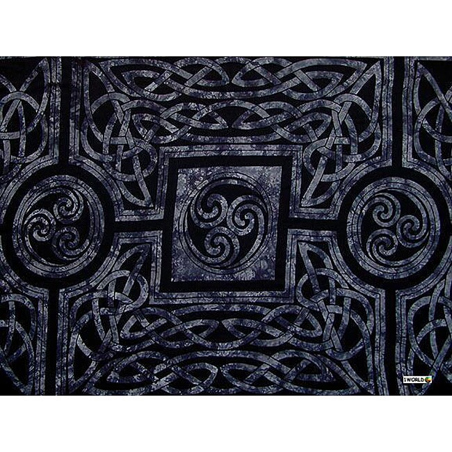 1 World Sarongs Women's Celtic Circles Slate Grey Sarong (Indonesia)