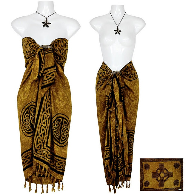 Celtic Cross Rich Gold Sarong (Indonesia)