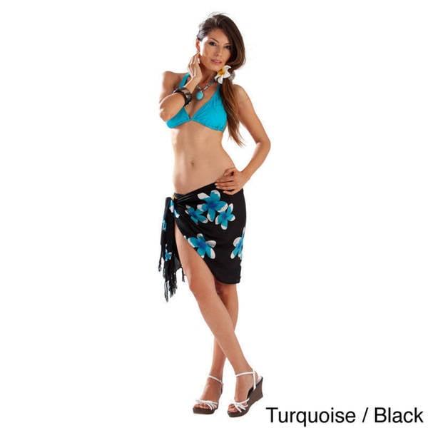 9ae6e41231 ... Women s Clothing     Swimwear     Cover-Ups   Sarongs. Handmade 1 World  Sarongs Women  x27 s Plumeria Mini Sarong (Indonesia)