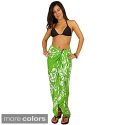 Handmade 1 World Sarongs Women's Versatile Hibiscus Sarong (Indonesia)