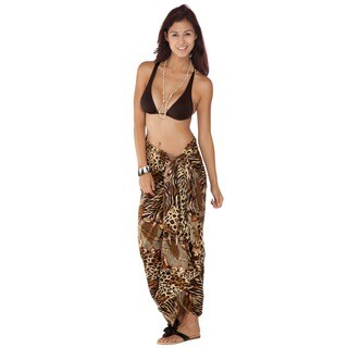 Handmade 1 World Sarongs Women's Feline 10 Sarong (Indonesia)