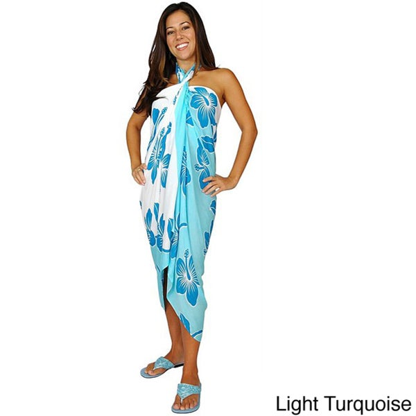 Hibiscus Sarong for Pool or Beach (Indonesia)