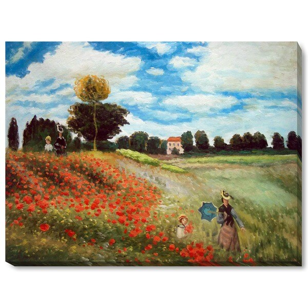 Monet Poppy Field In Argenteuil Oil Canvas Free