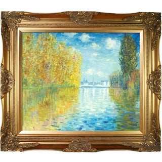 Monet 'Autumn at Argenteuil' Hand-painted Oil Canvas