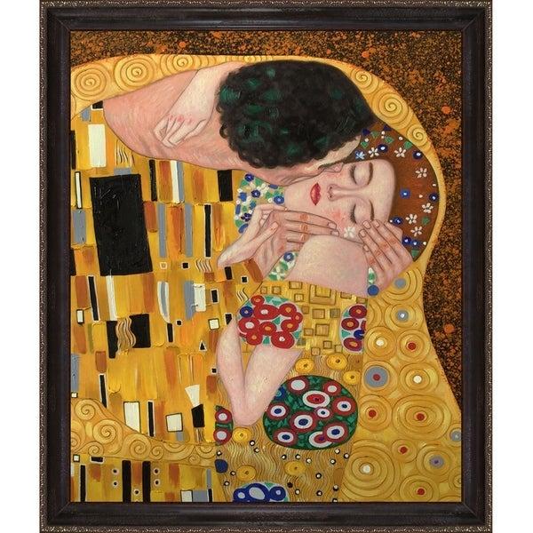 Shop Klimt The Kiss Hand Painted Reproduction Oil On Canvas Art